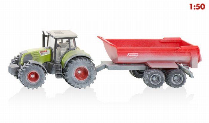 3542 Siku Claas tractor met Krampe kipper