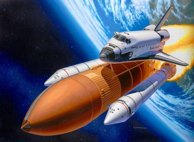 04736 revell space shuttle discovery & booster rockets Revell