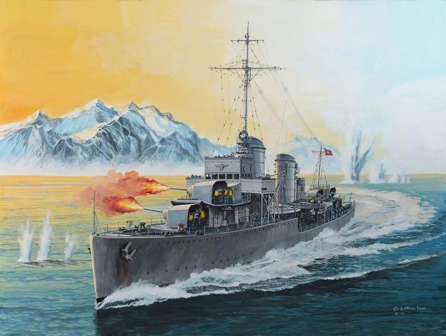 05141 Revell German Destroyer Type 1936