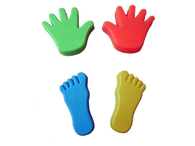 Zandvormset Hand met Voet 4 delig