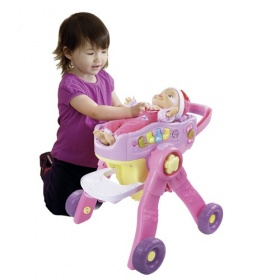Vtech Little Love 3 in 1 Poppenwagen