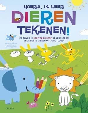 Tekenboek Hoera, Ik Leer Dieren Tekenen