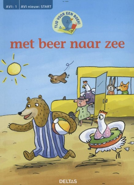 Tijd voor een boek - Met beer naar zee Deltas