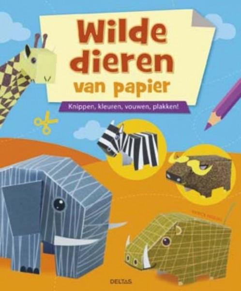 Vouwboek Wilde Dieren Van Papier...