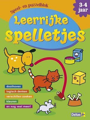 Leerrijke spelletjes boek- en puzzelblok (3-4 jaar)