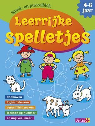 Leerrijke spelletjes speel- en puzzelblok (4-6 jaar)