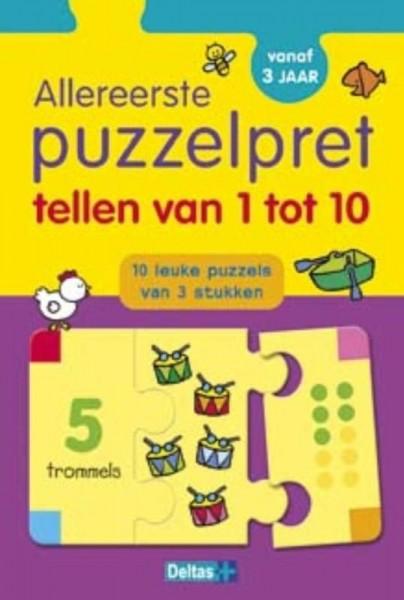 Allereerste Puzzelpret Tellen Van 1 Tot 10