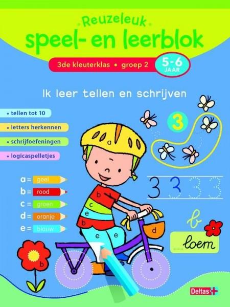 Reuzeleuk speel- en leerblok - Ik Leer Tellen En Schrijven (5-6 Jaar)
