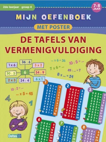 Mijn oefenboek met poster de tafels van vermenigvuldiging (7-8 jaar)