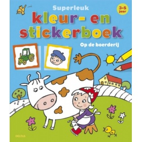 Superleuk Kleur- en Stickerboek (3-5 jaar)