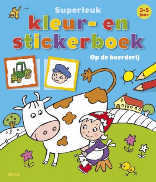 Superleuk Kleur- En Stickerboek Op De Boerderij