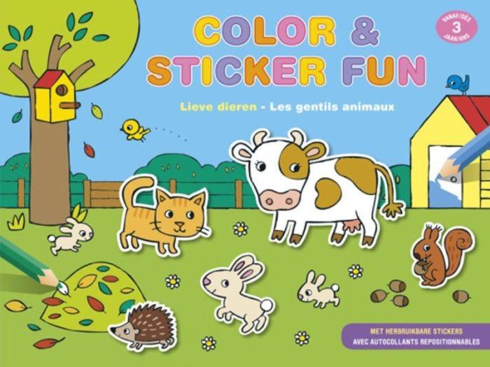 Color en Sticker fun Lieve Dieren (3 jaar)