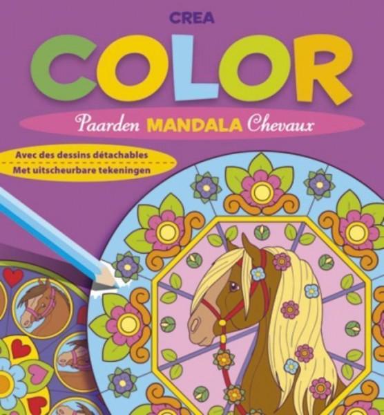 Crea Color Paarden Mandala