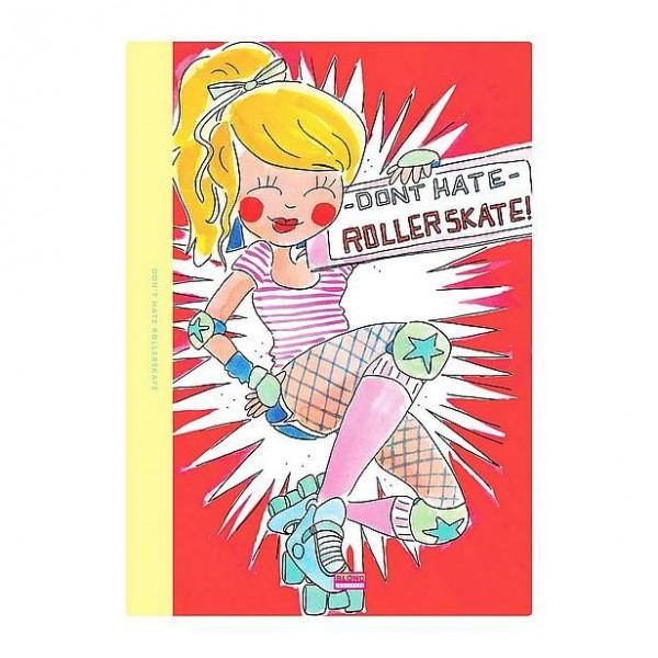 Blond Schrift A4 Rollerskater