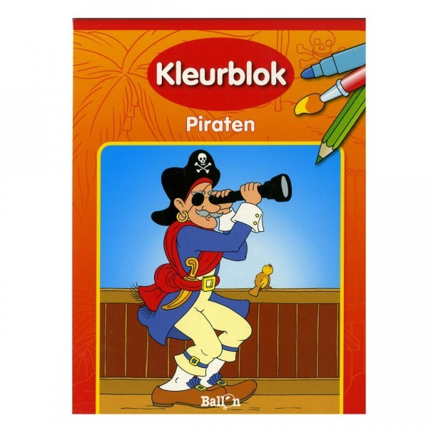 Kleurblok Piraten