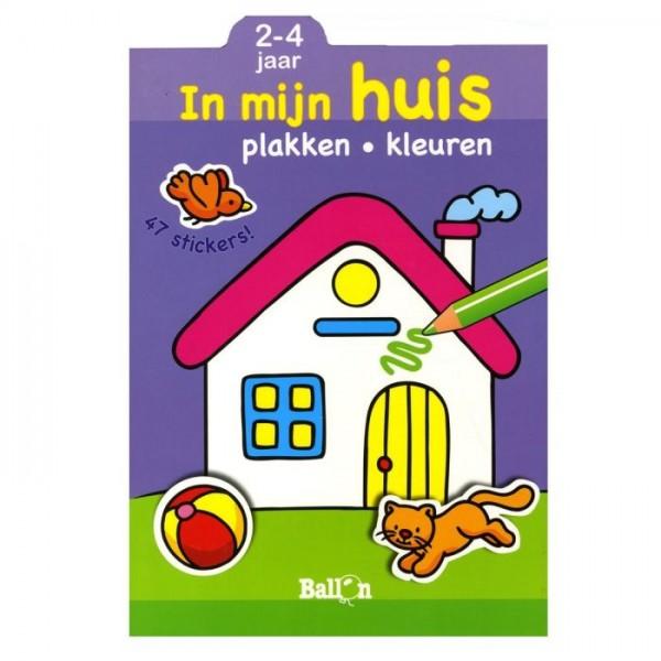 Mijn huis plakken- kleuren (2-4 jaar)