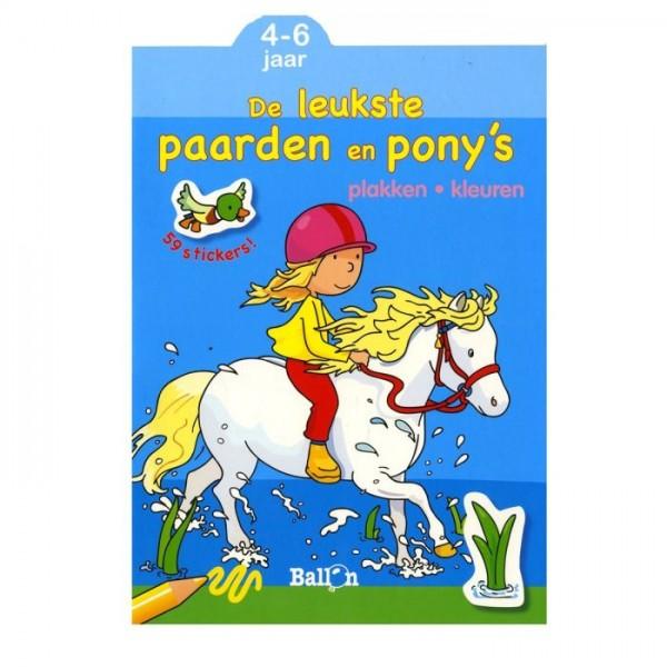 Plakken-kleuren: ik ben dol op paarden en pony's