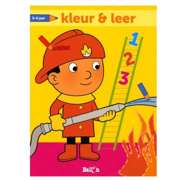 Kleur- En Leerboek 3-4 Jaar Brandweer