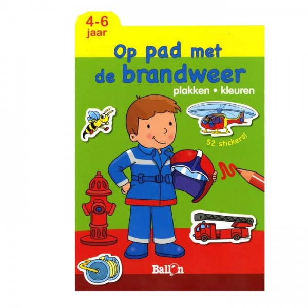 Plakken en kleuren op pad met de brandweer (4-6 jaar)
