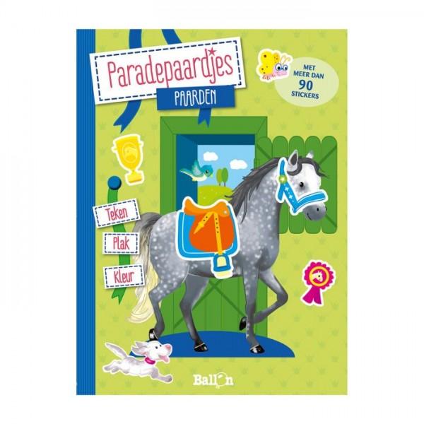 Teken Plak en Kleurboek Paarden