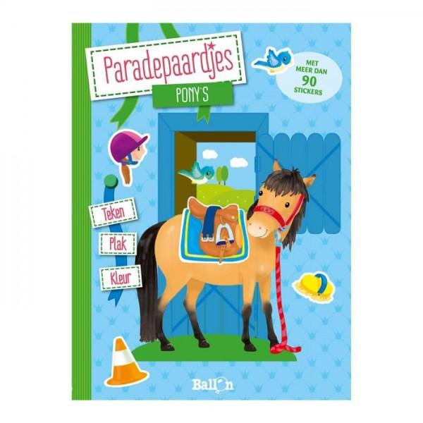 Teken Plak en Kleurboek Pony's