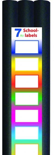 3-pak Kaftpapier Zwart met Labels