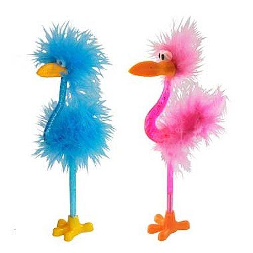 Balpen Flamingo Roze/Blauw