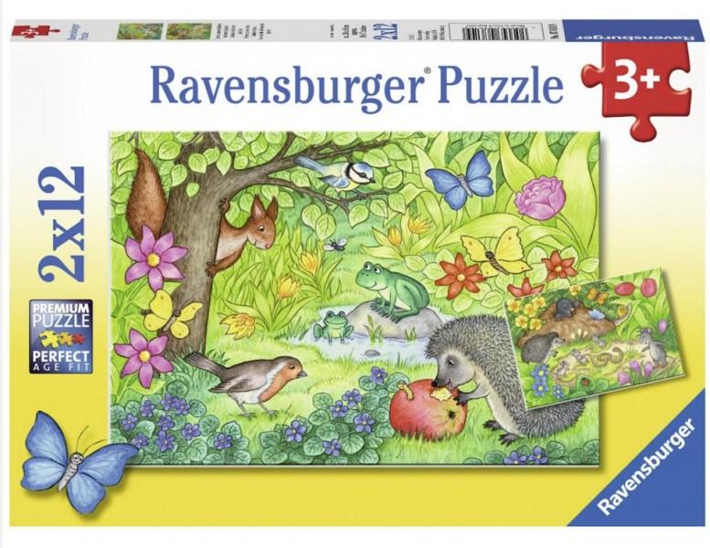 Ravensburger Puzzel Dieren In Onze Tuin (2x12)