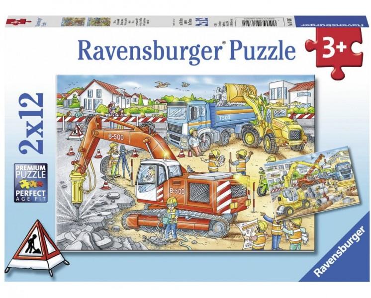 Ravensburger Puzzel Pas Op, Wegwerkzaamheden (2x12)
