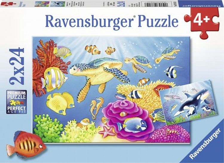 Ravensburger Puzzel Kleurrijke Onderwaterwereld (2x24)