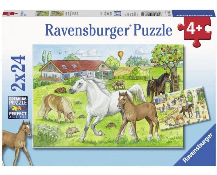 Ravensburger Puzzel op de Manege (2x24)