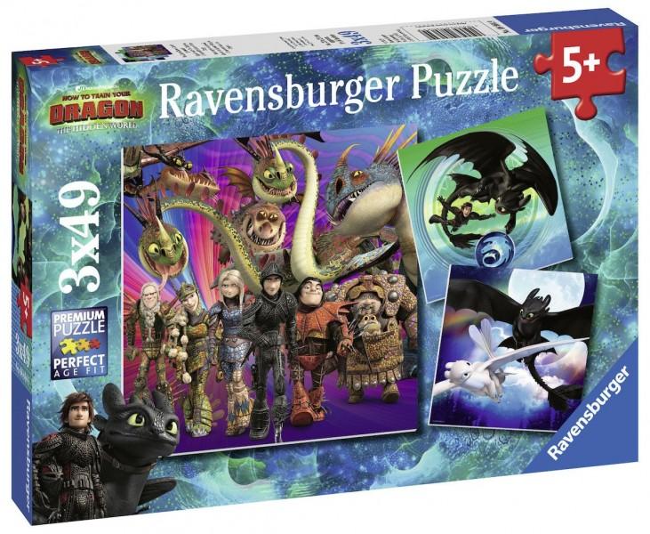 Ravensburger Puzzel Dragons 3 (3x49)