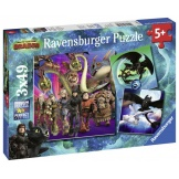 Ravensburger Puzzel Dragons 3 (3x49)