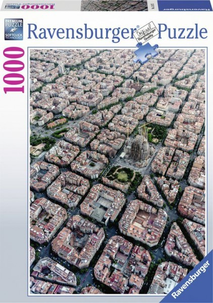 Ravensburger Puzzel Barcelona Vanuit de lucht (1000)