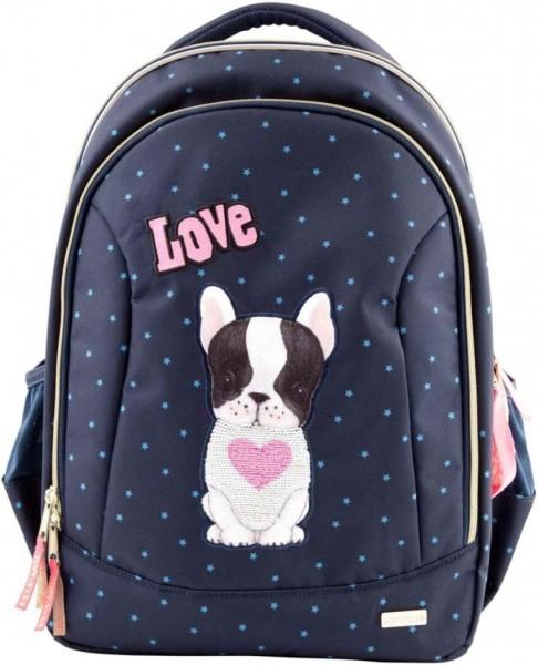 Topmodel Schoolrugzak Soft Hond Wrijfpailletten Navy Blue