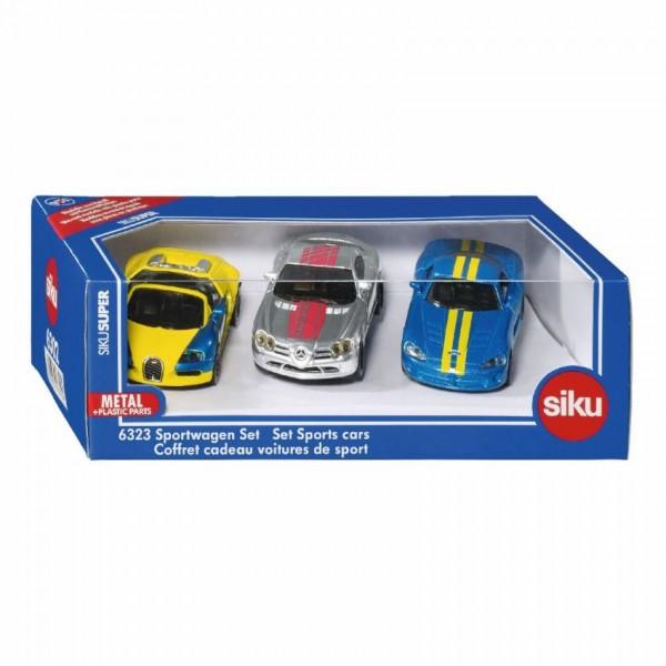 6323 Siku Geschenkset 3 Sportwagens