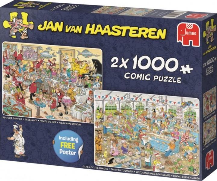 Jumbo Puzzel Jan van Haasteren Eet- en Bakfestijn (2x1000)