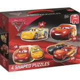 Jumbo Puzzel Cars 3, 4 In 1 Shaped Puzzel (14+16+18+20)