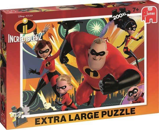 Jumbo Puzzel Disney The Incredibles 2 XL (200)