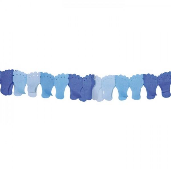 Folat Papierslinger blauwe voetjes