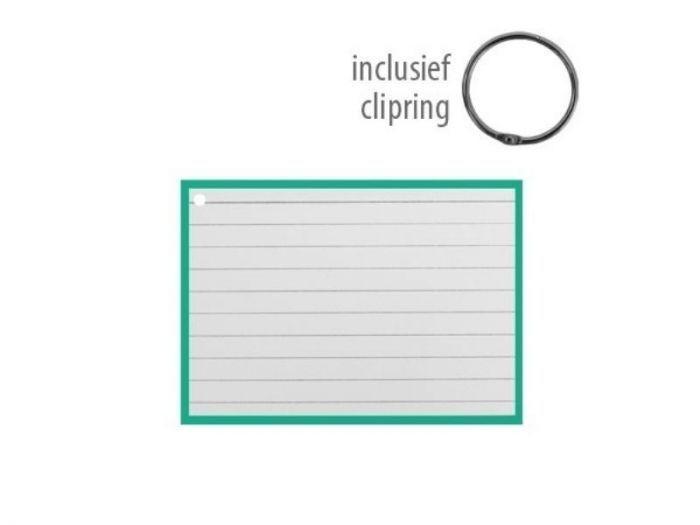 Flashcards 10.5x7.5cm Groen