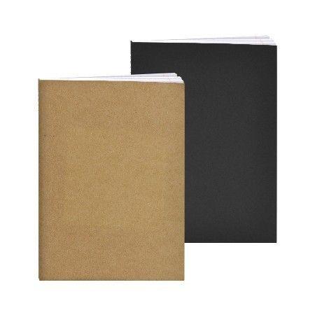 Schrift A4 Lijn Harde Kaft Kraft Bruin/Zwart