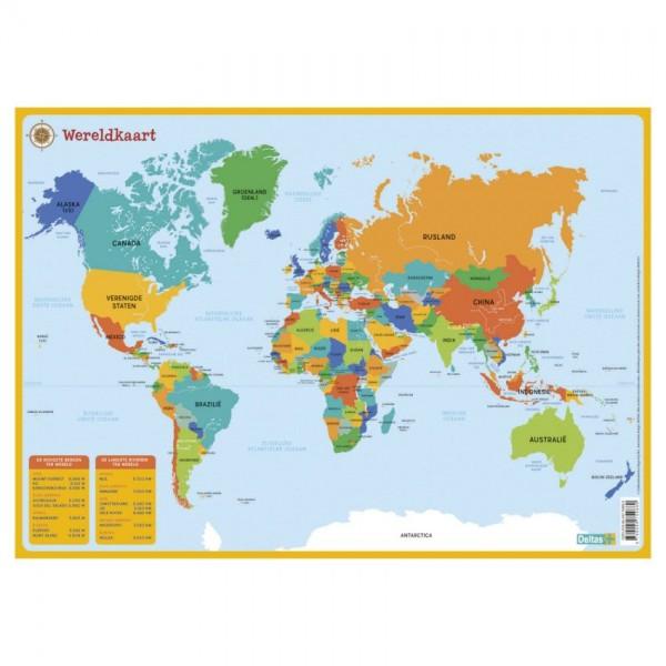 Wereldkaart - Educatieve Onderlegger