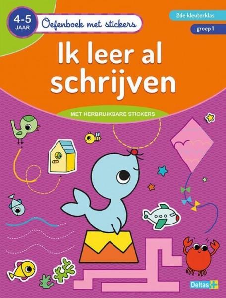 Oefenboek Met Stickers Ik Leer Al Schrijven (4-6 Jaar)
