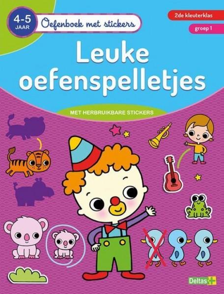Oefenboek Met Stickers Leuke Oefenspelletjes (4-5 jaar)