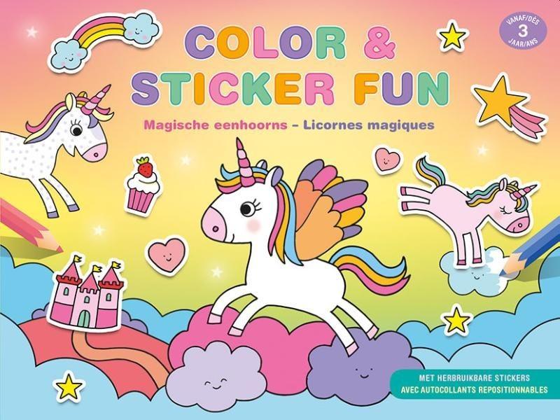 Boek Color & Sticker Fun Magische Eenhoorns (vanaf 3 jaar)