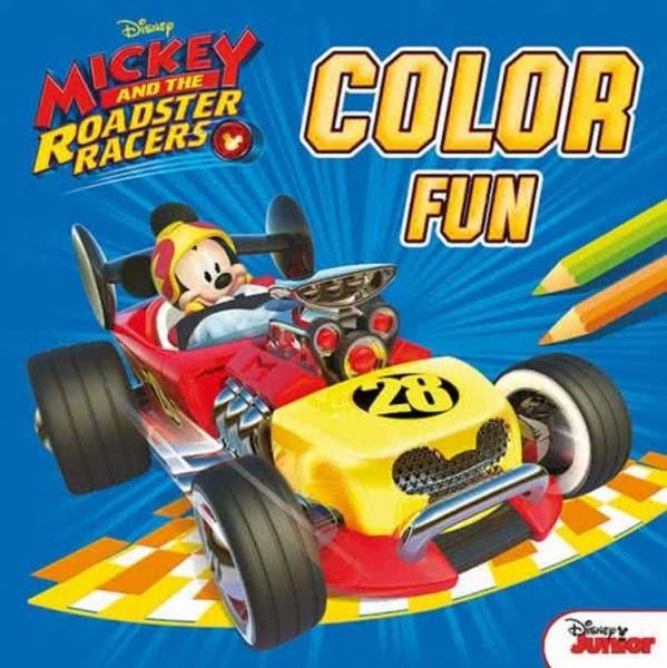 Boek Disney Color Fun Mickey En De Roadster Racers